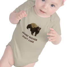 Honey Badger Don't Care Red Infant Organic Creeper