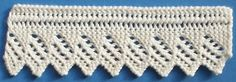 1884 Knitted Lace Sample Book: 1. Knitted Edging