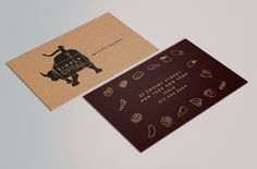 Tala Kernan Graphic Designer concept and identity for a butcher shop specializing in uncommon cuts of meat