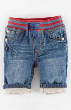 Mini Boden 'Cosy' Lined Jeans (Baby Boys) available at #Nordstrom