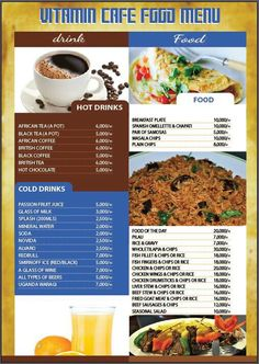 Vitamin cafe food menu