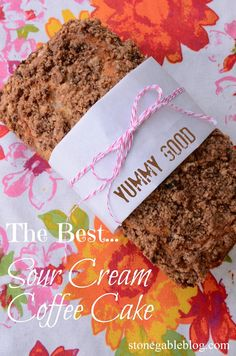 THE BEST SOUR CREAM COFFEE CAKE Perfect! As simple as that! stonegableblog.com