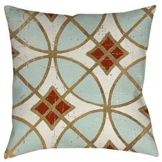 Found it at Wayfair - Garden Tile 1 Printed Throw Pillow