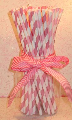 Blush Pink and Bubble Gum Pink and White by sweettreatssupplies, $4.15