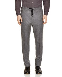 Z Zegna Stretch Wool Slim Fit Drawstring Trousers - 100% Bloomingdale's…