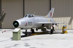 Palm Springs Air Museum. Ex-Czechoslovakian Air Force MiG-21F (1112) complete with 'Notorious Natasha' nose art.