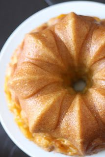 A Bit of Bees Knees: Vanilla Bean Peach Cake with Peach Soaking Syrup