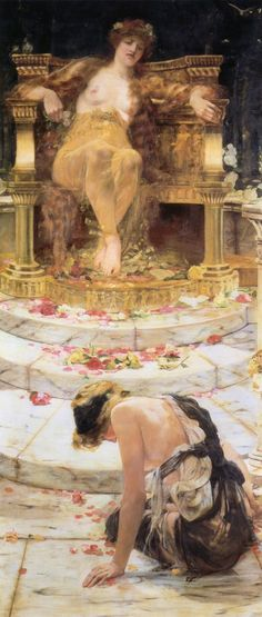 Psyche at the Throne of Aphrodite de Edward Hale, 1883