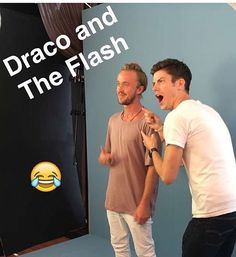 When you're still not over Tom Felton. #SDCC #Flash