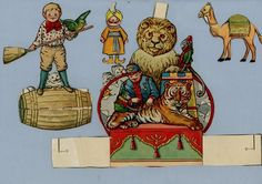 Children's Toy Cutouts from Vintage Magazine – Circus Lion