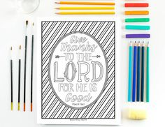 Give Thanks Coloring Page Psalm 1361 Printable