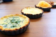 Quiche with Almond Flour Crust, 4 ways This almond flour quiche is perfect for lazy Sunday brunches, baby showers, or a weekend away with the girls. When you add cheese, sautéed greens, bacon, or just enjoy with eggs- these mini quiches are sure to be a hit! For the crust: 2 cups almond flour 1/2...