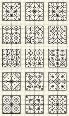 Beginning Cross Stitch Embroidery Tips - Embroidery Patterns - BLACKWORK bitty patterns You are in the right place about fabric crafts handmade Here we offer you -