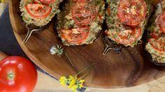 Beringelas recheadas com Quinoa Bruschetta, Quinoa, Lunch, Ethnic Recipes, Food, Eggplants, Lunch Ideas, Healthy Life, Ethnic Food
