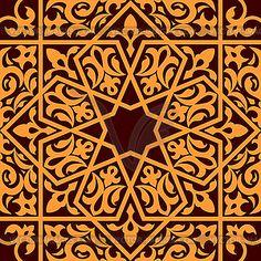 Арабский и исламский орнамент бесшовные - графика в векторе