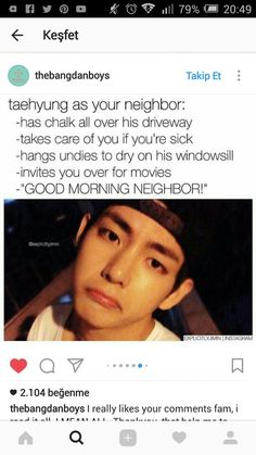 O wish tae was my neighbor man.....