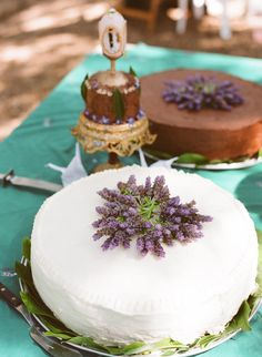 Lavender wedding cake for a Garden Wedding ... #Budget wedding ideas for brides & bridesmaids, grooms & groomsmen, parents & planners ... https://itunes.apple.com/us/app/the-gold-wedding-planner/id498112599?ls=1=8 … plus how to organise an entire wedding, without overspending ♥ The Gold Wedding Planner iPhone App ♥