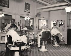 Senate Office Bldg. Barber Shop. It was made in 1937