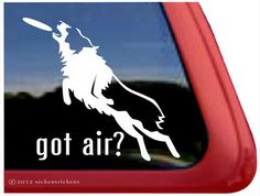 "Australian Shepherd Got Air - DC290GOT - High Quality Adhesive Vinyl Window Decal Sticker - 5"" tall x 5.5"" wide"