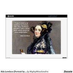 Ada Lovelace (Portrait by Alfred Chalon) Ada Lovelace, Macbook Skin, Laptop Decal, Laptops, Phones, Cases, Portrait, Headshot Photography, Phone
