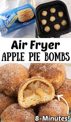 Air Fryer Recipes Dessert, Air Fryer Oven Recipes, Air Frier Recipes, Apple Recipes, Fall Recipes, Apple Bite, Apple Pie Bites, Apple Pie Cookies, Fried Apple Pies