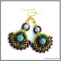 Bead Weaving patterns and beading tutorials to make beaded jewellery   picasso HeatherCollinBeadesigns