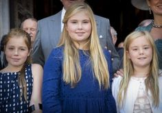 King Willem-Alexander, Queen Maxima, Princess Amalia, Princess Alexia and Princess Ariane attend the christening of Carlos de Bourbon de Parme