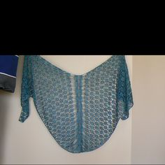 Cable Panel Shawl in Rhapsody Light and Beaded Silk Light