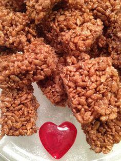 "Allergy-Free Vintage Cookery: ""Healthy"" Chocolate Crispy Rice Treats (DF, GF, refined sugar free) (Contains: rice cereal, brown rice syrup, coconut spread, vanilla)"