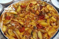 Bol Sarımsaklı Fırında Tavuklu Patates Tarifi