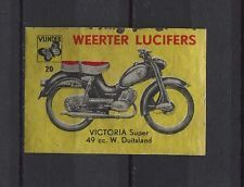Victoria Super 49 CC Motorbike/Moped Weerter Vintage Matchbox Label No.20 | eBay