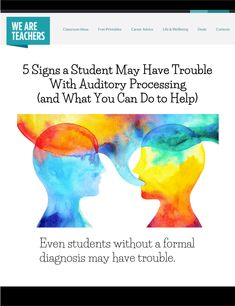 Task Shakti - A Earn Get Problem Most Classrooms Usealotof Verbal Language Throughout The Day. Here's A List Of Auditory Processing Disorder Symptoms, Plus Teacher-Tested Tips And Strategies To Help These Students Succeed In Your Classroom. Receptive Language, Speech And Language, Autism Learning, Auditory Processing Disorder, Sensory Disorder, Special Needs Students, Developmental Disabilities, Parenting Hacks, Dyslexia