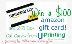 $100 Amazon and 250 Die-Cut Business Cards from UPrinting Giveaway