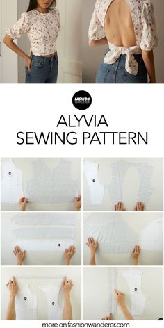 Diy Clothing, Sewing Clothes, Fashion Sewing, Diy Fashion, Sewing Tutorials, Sewing Projects, Kleidung Design, Diy Tops, Dress Sewing Patterns