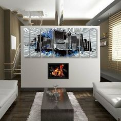 """Abstract by Ash Carl Metal Wall Art in Gray and Black - 23.5"""" x 60"""" by All My Walls. $388.52. Hangs in 15 minutes!. High Quality Welded and Bolted Construction. Painted Steel. Size: 23.5"""" T X 60"""" W Inches. Corrosion Resistant Finish. SWS00094 Features: -Abstract wall art.-Artist: Ash Carl.-As the light reflects on the sculpture it appears to be alive.-Unique visual movement from reflected light.-Hangs in less than 15 minutes.-Easy to clean surface.-Made in USA. ..."""