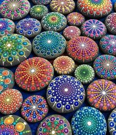 Calming Mandala Stone Art - FaithTap