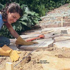 How to make a stone path   familyhandyman.com