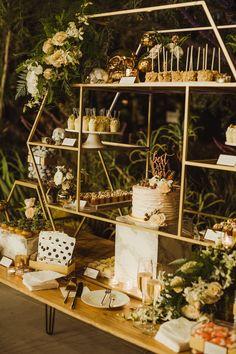 Wedding cake dessert display