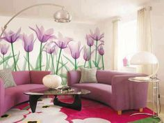 Wall decoration with flowers | http://www.decoridea.inf...