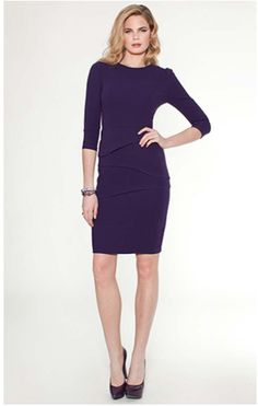 Teri Jon purple cocktail dress Style #3325 #TeriJon #Purple