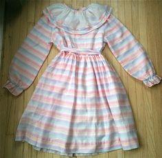 80s Rainbow Dress Girls 12 by lishyloo on Etsy, $10.00