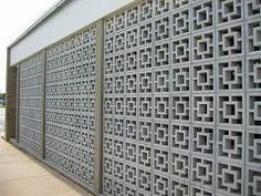 decorative concrete block - mid century modern - pretty.  Secret Design Studio knows mid century modern architecture.   www.secretdesignstudio.com