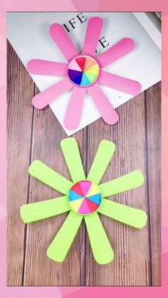 Paper Crafts Origami, Paper Crafts For Kids, Origami Art, Craft Activities For Kids, Preschool Crafts, Fun Crafts, Paper Flowers For Kids, Stick Crafts, Summer Crafts For Kids