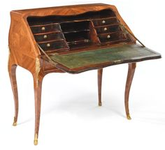 c1765 A Louis XV ormolu-mounted kingwood bureau en dos d'ane circa 1765, stamped N. A. Lapie JME 7,000 — 10,000 USD. Unsold
