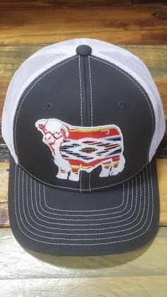 Grey and White Serape Hereford Patch Cap (3.5