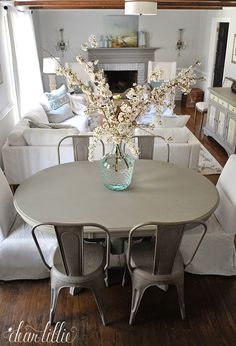 DIY French Country Cottage Kitchen Table Makeover by Dear Lillie