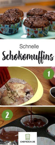 Schokoladen-Muffins schnell gemacht