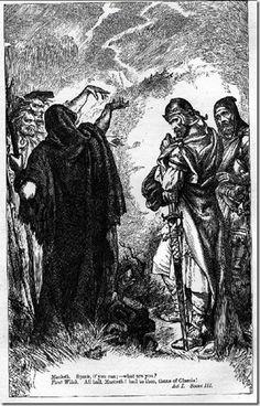 Macbeth ouve a profecia que o incita a matar o rei e assumir o trono