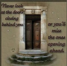 Never look at the doors closing behind you..
