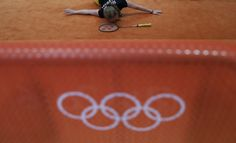 Germany's Karin Schnaase stretches during a badminton training session at the 2016 Summer Olympics in Rio de Janeiro, Brazil, Tuesday, Aug. 9, 2016. (AP Photo/Kin Cheung) via @AOL_Lifestyle Read more: http://www.aol.com/article/2016/08/20/us-womens-basketball-team-wins-6th-straight-olympic-gold-medal/21455656/?a_dgi=aolshare_pinterest#fullscreen